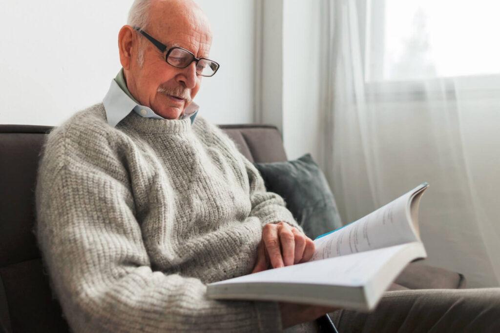 Elder at-home-reading-book